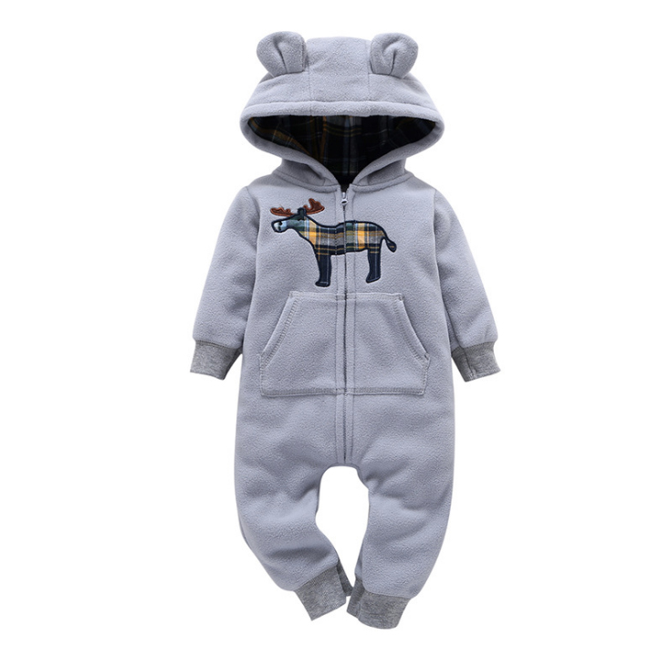 Hfe0baa7945dc4504ab5bd0f3135beed5U 2019 Fall Winter Warm Infant Baby Rompers Coral Fleece Animal Overall Baby Boy Gril Halloween Xmas Costume Clothes Baby jumpsuit