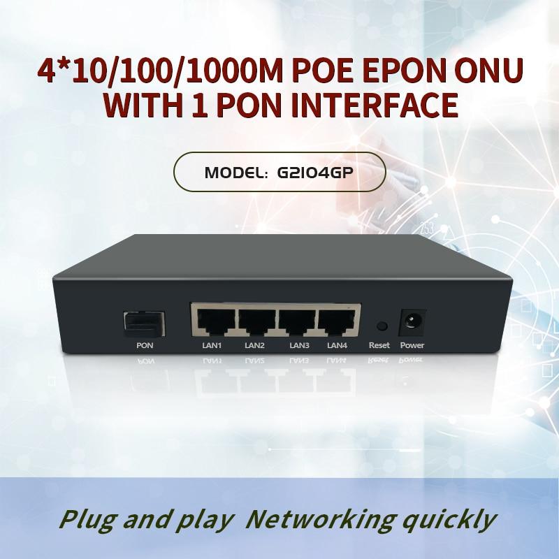 4-Port Gigabit Epon Poe Onu For IP Carmer GEPON ONU With 4G POE  EPON ONU OLT