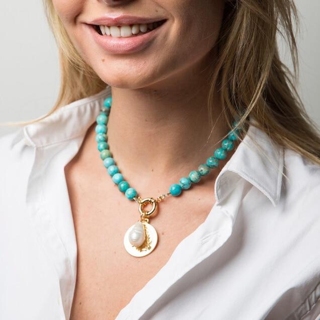 handmade beaded Necklace ethnic boho, gift for women gemstones gemstone jewelry SHIRIN MALACHITE ethnic necklace tribal choker