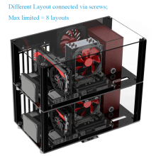 DIY Acrylic ATX Computer Case Compatible Micro-ATX MATX Motherboard Open Full Transparent Desktop PC Gaming Cases Layout Kits