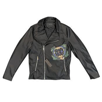 2020 fashion design handsome pu jacket for men with big logo special pattern clip cotton fabrics new luxury brand eden park