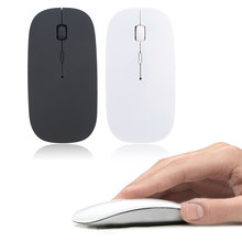 Rato de computador sem fio 1600 dpi usb óptico 2.4g receptor super magro mouse para computador portátil