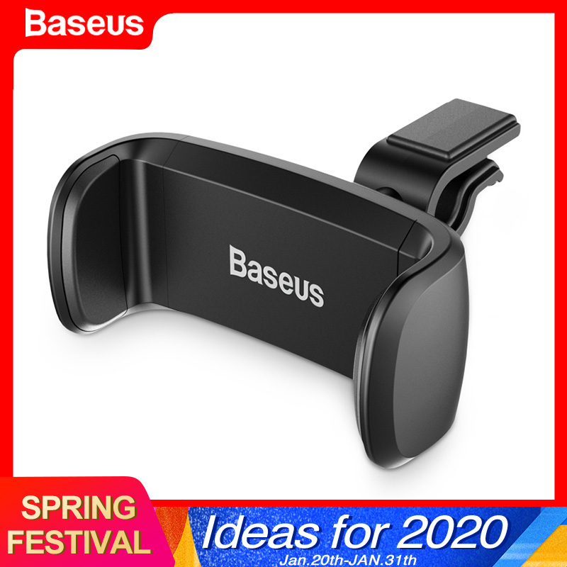 Baseus Car Phone Holder For IPhone 11 Pro Max Samsung Air Vent Mount Car Holder For Phone In Car Cell Mobile Phone Holder Stand
