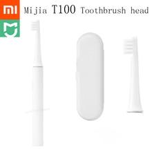 الأصلي Xiaomi Mijia T100 مي الذكية فرشاة الأسنان الكهربائية رئيس 46g 2 سرعة Xiaomi سونيك فرشاة الأسنان تبييض العناية بالفم منطقة تذكير