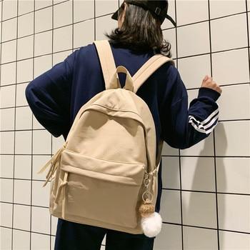Fashion Backpack Women Nylon Shoulder Bag 15.6 Inch Laptop School Backpack Teenage Girls Waterproof Harujuku Female knapsack
