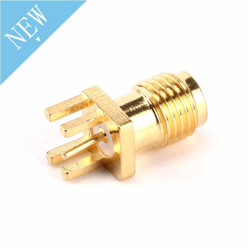 10 sztuk 1.6mm złącze żeńskie SMA żeńskie łącze typu jack lutowane nakrętka krawędzi PCB klip prosto góra pozłacane złącze RF gniazdo lutowane