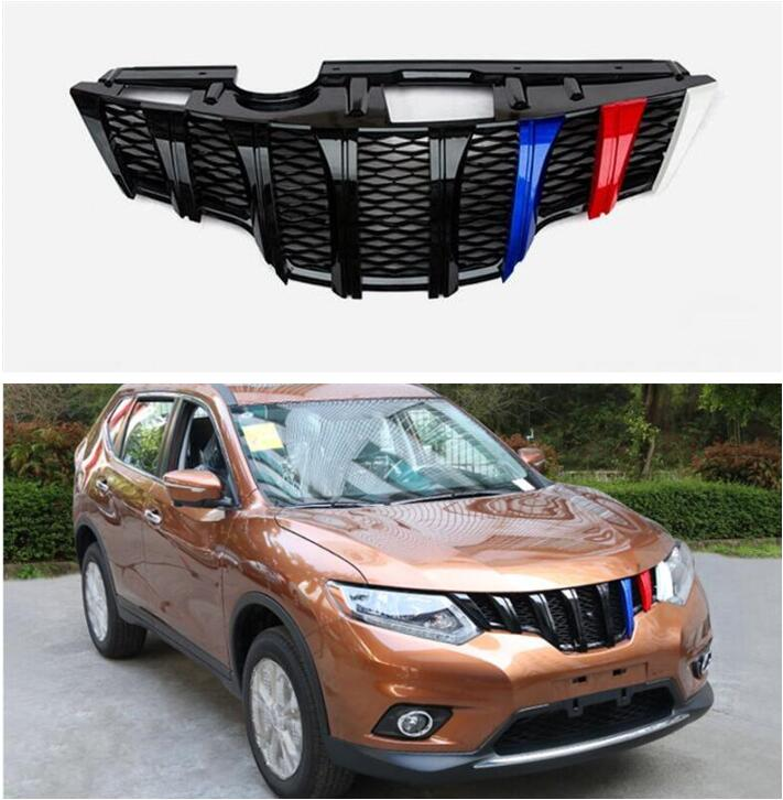 ABS Car Front Bumper Mesh Grille Grills For NISSAN X-TRAIL XTRAIL T32 2014 2015 2016 2017 2018 Year image