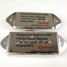 Humbucker Pastillas metálicas personalizadas para guitarra, pastillas para guitarra eléctrica, oro cromado y plata, Epi Pickups