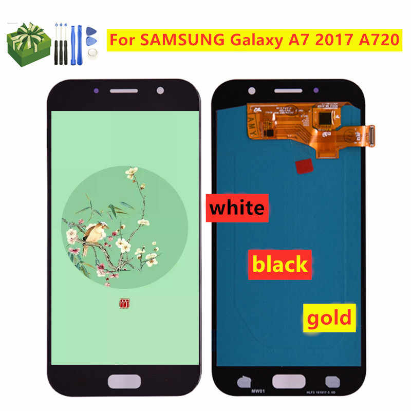 OLED LCD Ersatz Für SAMSUNG Galaxy A7 2017 SM-A720F A720F A720 LCD Touch Screen Digitizer Montage Lcd Display
