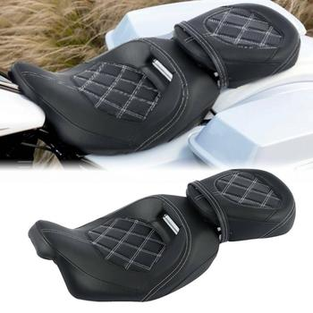 Motorcycle Driver Passenger Seat PU Leather For Harley Street Road Glide Ultra Limited Touring Road King Glide 2009-2020