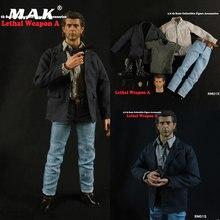 Rm015 1/6 escala figura masculina acessório arma letal mel colúcille gerard gibson cabeça roupas terno para 12