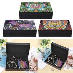 Специальная Алмазная картина DIY Бабочка Смола коробка для ювелирных изделий контейнеры Настольный декоративный органайзер для хранения че...