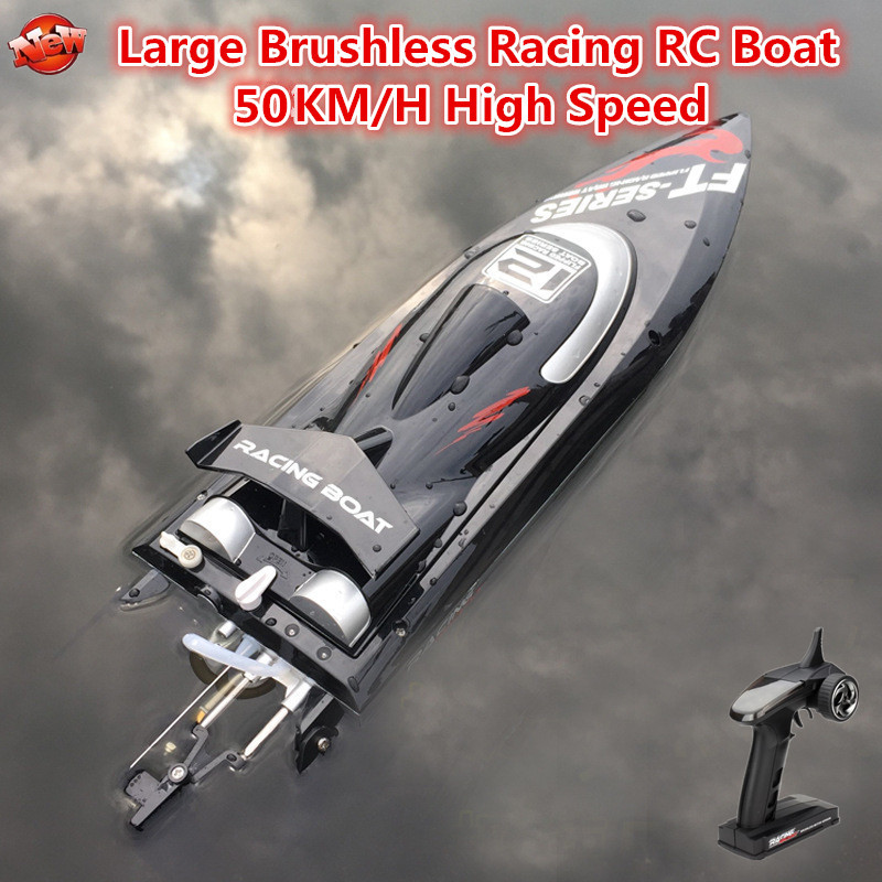 Professional Brushless Racing Electric Wireless Control RC Boat 2.4G 50KM/H 46CM High Speed Water Cooling RC Speedboat Model