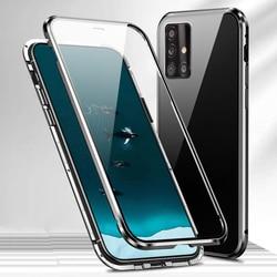 Do Samsung Galaxy A51 A 51 Case podwójne szkło hartowane 360 pełna ochrona etui na telefon do Samsung A71 A 71 pokrywa metalowy magnes klip