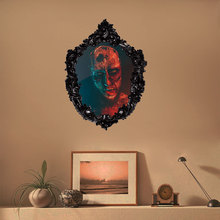1 Pcs Horror Zombie Halloween Wall Sticker Creative Painting Living Room Bedroom Decorative Head Home Decoration