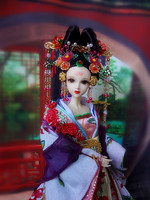 1/6 Collectible Chinese Empress Wu Zetian Dolls Vintage Ethnic BJD Dolls Tang Dynasty Girl Toys Christmas Gift Souvenir