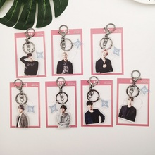 "Kpop bangtan boys ""RM"" ""V"" ""JIN"" etc Personalized Figure Keychain For Women Men Jewelry Bangtan Accessories Findings"