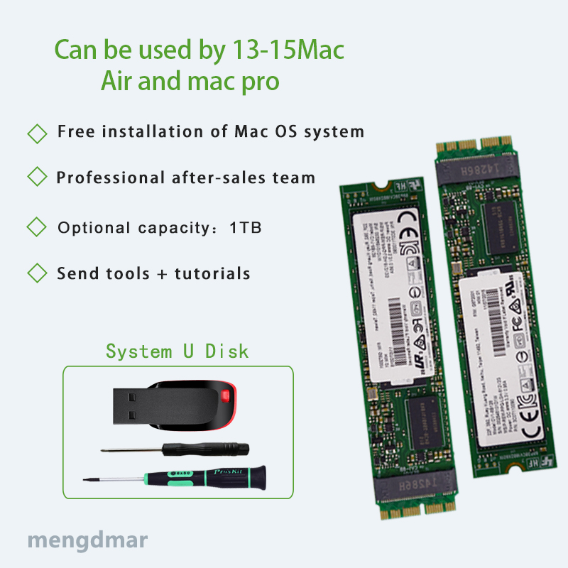 Nouveau disque SSD 1000 go (1 to) pour Macbook Air 2013 2014 2015 A1465 A1466 imac PRO 2013 2014 2015 a1425 A1502 A1398mini