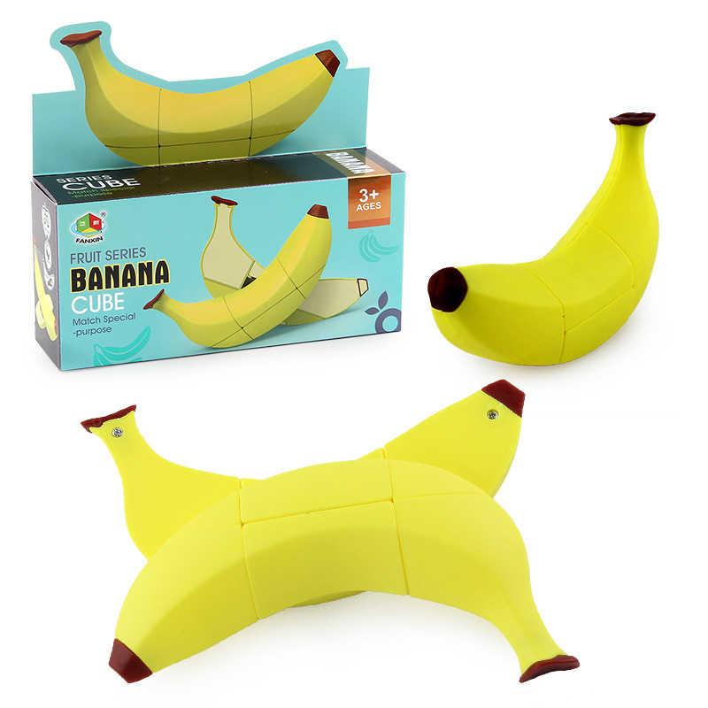 Cubo mágico puzzle fruta plátano tarta de manzana, limón 2x2x3, cubo de juguete de forma especialmente bonito, cubo educativo profesional, cubo mágico