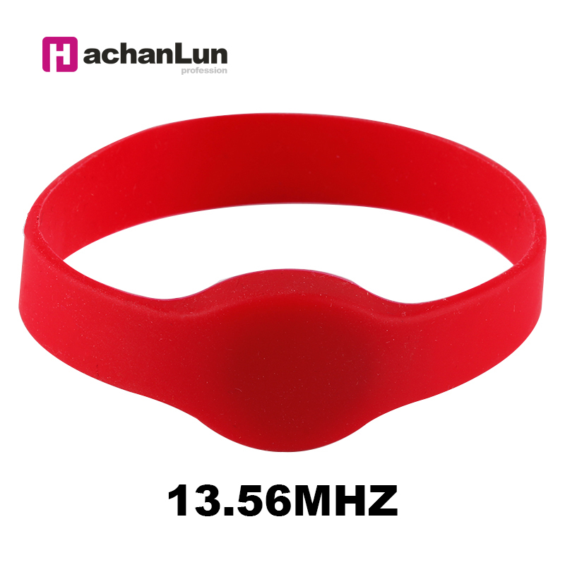 5PCS 13.56Mhz NFC M1 S50 ISO14443A RFID IC Access Control Access Card Waterproof Smart Silicone Wristband Bracelet