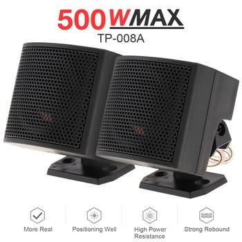 цена на 2pc 500W Tweeter Speaker Audio Sound Speaker Full Range Frequency Loudspeaker High Efficiency Capacitor for DIY Car Audio System