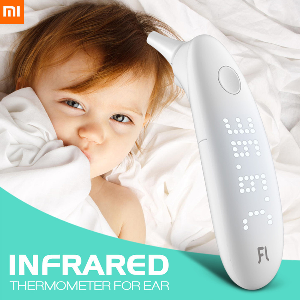 Xiaomi Baby Care Battery-Powered Infrared Thermometer For Ear LED Backlight Display 1s Reaction Baby Smart Infrared Thermometers