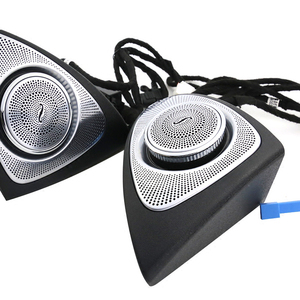 Image 5 - 64 colors rotating tweeter LED light for W213 ambient lights for Mercedes benz E class car left right door side treble speakers