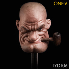 In Stock TYDT06 1/6 Scale Ninja Master Popeye Sailor Male Head Sculpt Carving for 12   Inches Muscle Man Body Figure 1 6 scale marlon brando head sculpt the godfather corleone head carving for 12 inches male figure body with gift