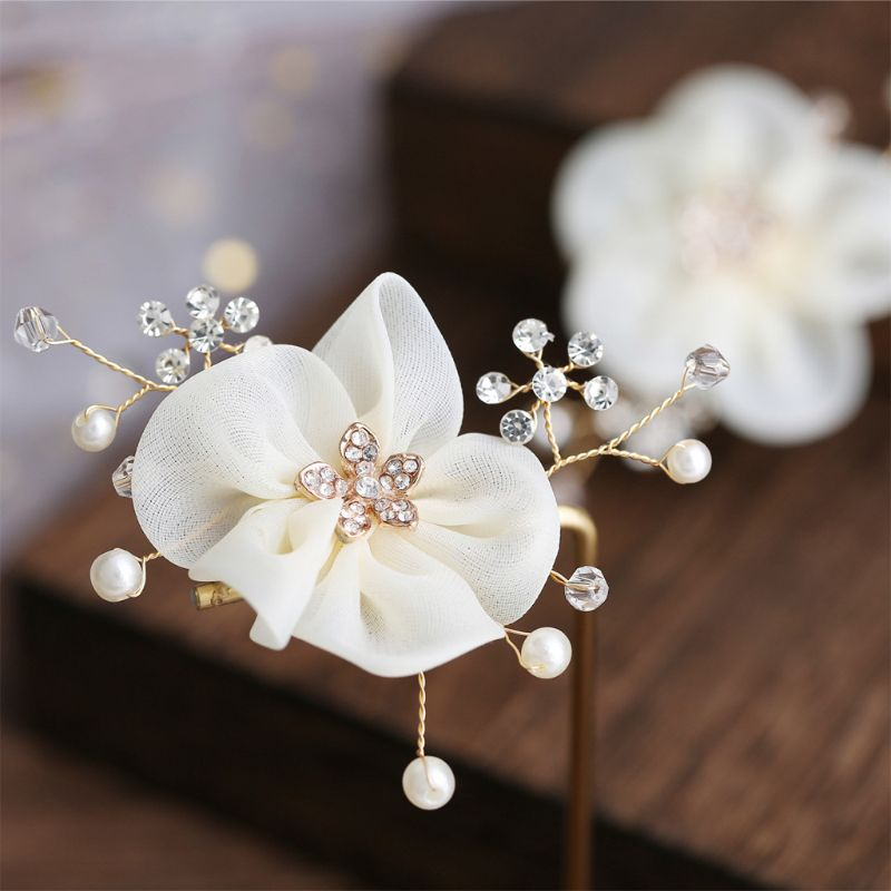 1 Pair Bridal Shoes Flower Handmade DIY Artificial Pearl Decorative Shoes Buckle Wedding Dress Jewelry Accessories in Jewelry Findings Components from Jewelry Accessories