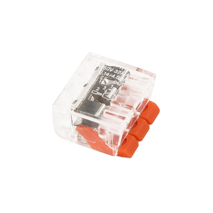 Image 3 - 75 個端子台柔軟な操作レバーホームコンパクトスプライシングコネクタワイヤ 2 3 5 ポール電気ケーブルクランプナット