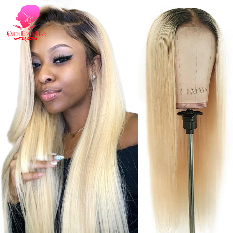13x4 13x6 1B 613 Blonde Ombre Color Brazilian Straight Wig Long Pre Plucked Glueless Lace Front Human Hair Wigs for Black Women