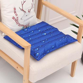 Summer Cool Breathable Ice Cushion Snowflake Drip Print Water Filling Ice Cushion Home Car Chair Pad Cooling Pillow image