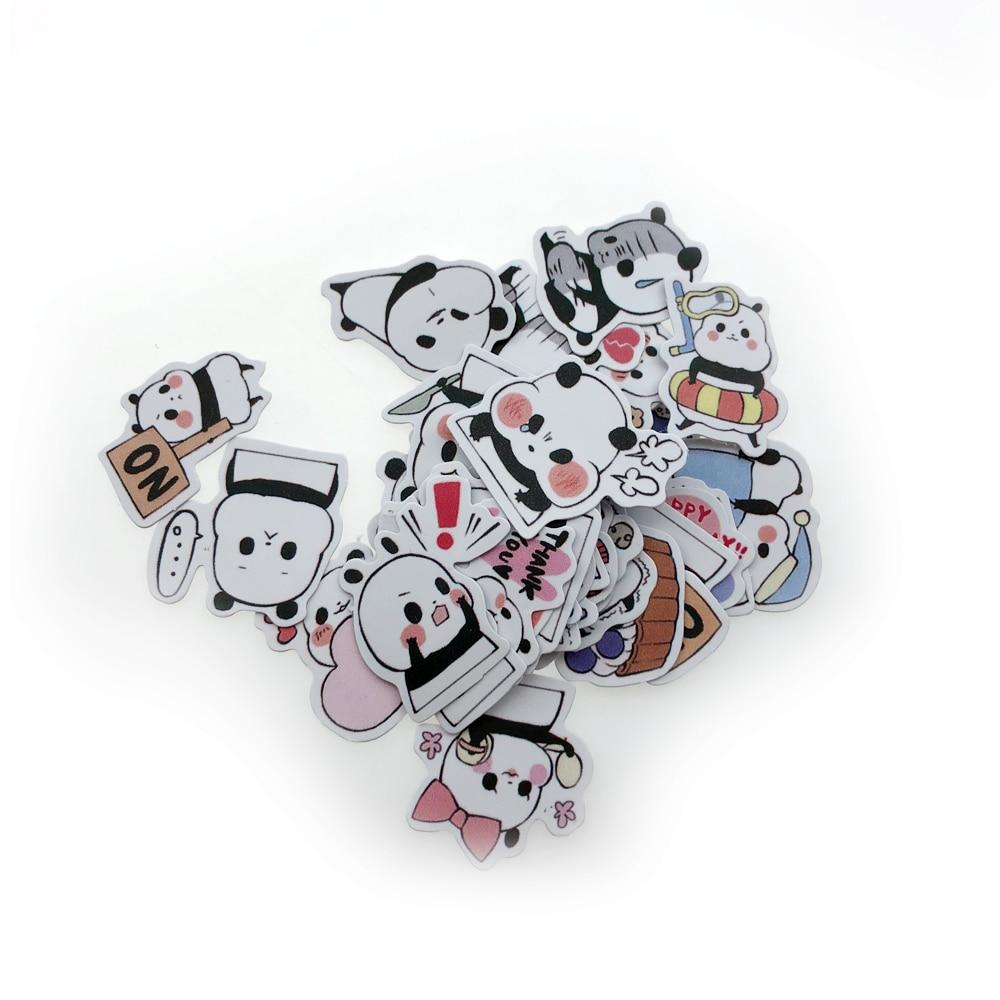 40 Animal Stickers Children's Toys Scrapbook Phone Laptop Gift Animal Panda Sticker