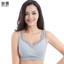 Fake Breast Bra Mastectomy Bra Silicone Breast Underwear Cover Insertable Fake Chest Breathable no Steel Ring Gray Bra C Cup D30