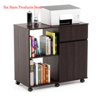 Mobile Printer Stand with Storage Office Cabinet Wooden Under Desk Cabinet Storage Drawers Home Office Furniture Storage Cabinet