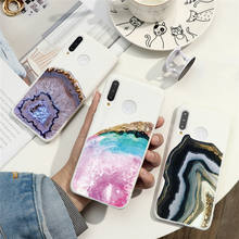 Marble Crystal Girl Case For Huawei P Smart P40 P30 P20 Lite E Pro Plus 2019 2020 Honor 9S 8X Y5P Y6P Y8P Silicone Cover Case