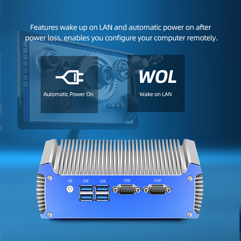 Fanless Mini PC Intel Core i7 4500U i5 4200U Dual Gigabit Ethernet RS232 HDMI VGA WiFi 4xUSB3.0 Windows 10 Industrial Micro PC