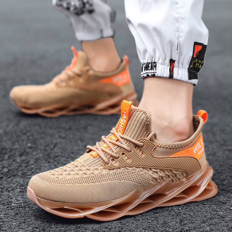 New Sneakers For Male Lace-up Athletic Trainers Zapatillas Sports Shoes Men Workout Jogging Walking Shoes Breathable Sneakers