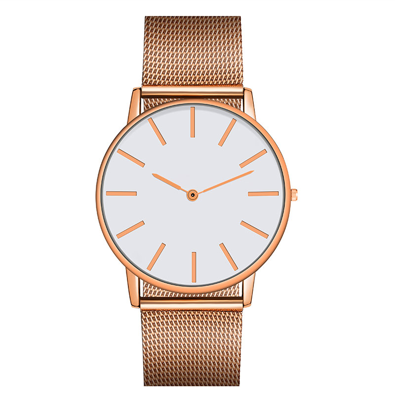 Fashion Quartz Watch With Multicolor Stainless Steel Cloth Watchband Wristwatch Simple Designer Women Men Clock