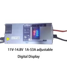 Gerilim akım ayarlanabilir Lifepo4 Lipo Li ion lityum pil şarj cihazı 4.2V 8.4V 12V 12.6V 14.6V 14.8V 75A 50A ekran 2S 3S 4S