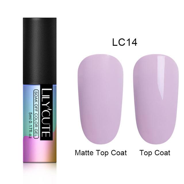 LILYCUTE Matte Top Coat Color Nail Gel