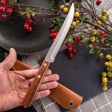 Домашний не складной нож прямой фиксированное лезвие 4cr14 ручка