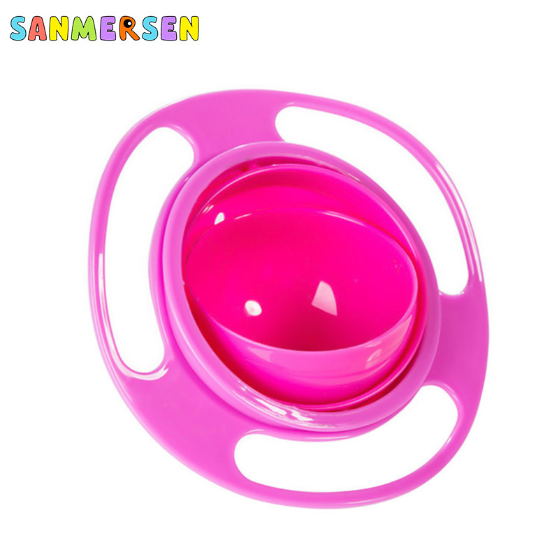 Creative Design Universal Gyro Bowl  Flying  Dishes Anti Spill Bowl Smooth 360 Degrees Rotation Gyroscopic Bowl For Baby Kids