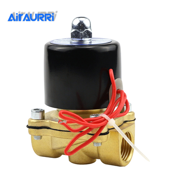Normally Open Electric Solenoid Valve Water Air N/O 2 Way 1/4 AC 220V 2W025-08K Brass Body DC12V 24V AC110V 220V Brass Valve free shipping 25bar brass high temperature 2 way water steam solenoid valve for hot water g1 2 dc12v orifice 15mm normal close