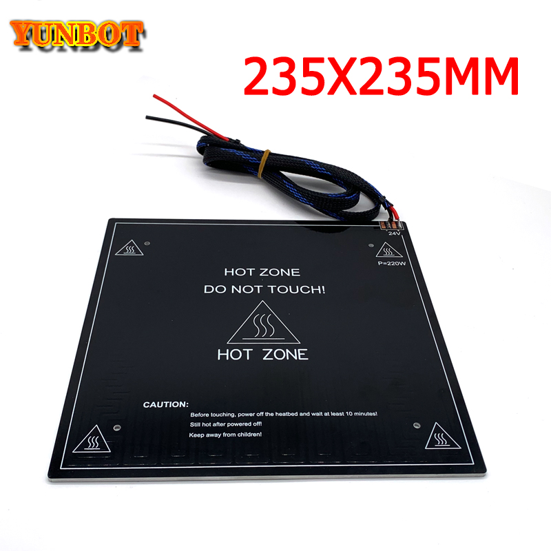 3D Printer Parts Heat Bed For Ender Heat Bed Aluminum With Cable 235*235*3MM 24V220W Set For Creality Ender 3pro 3D Printer