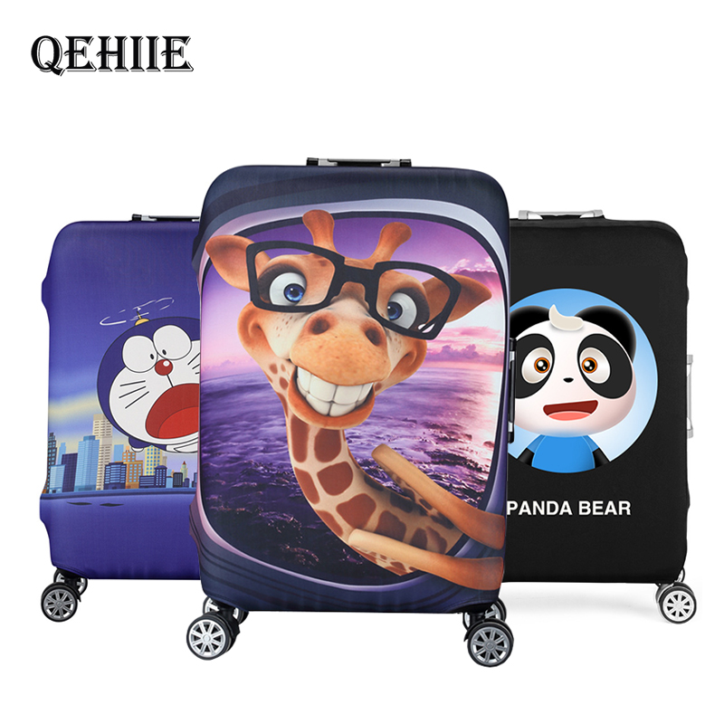 High Quality Thickened Travel Suitcase Cover Cute Cartoon 3D Animal Trolley Luggage Cover Elastic Protection Cover Dust Cover