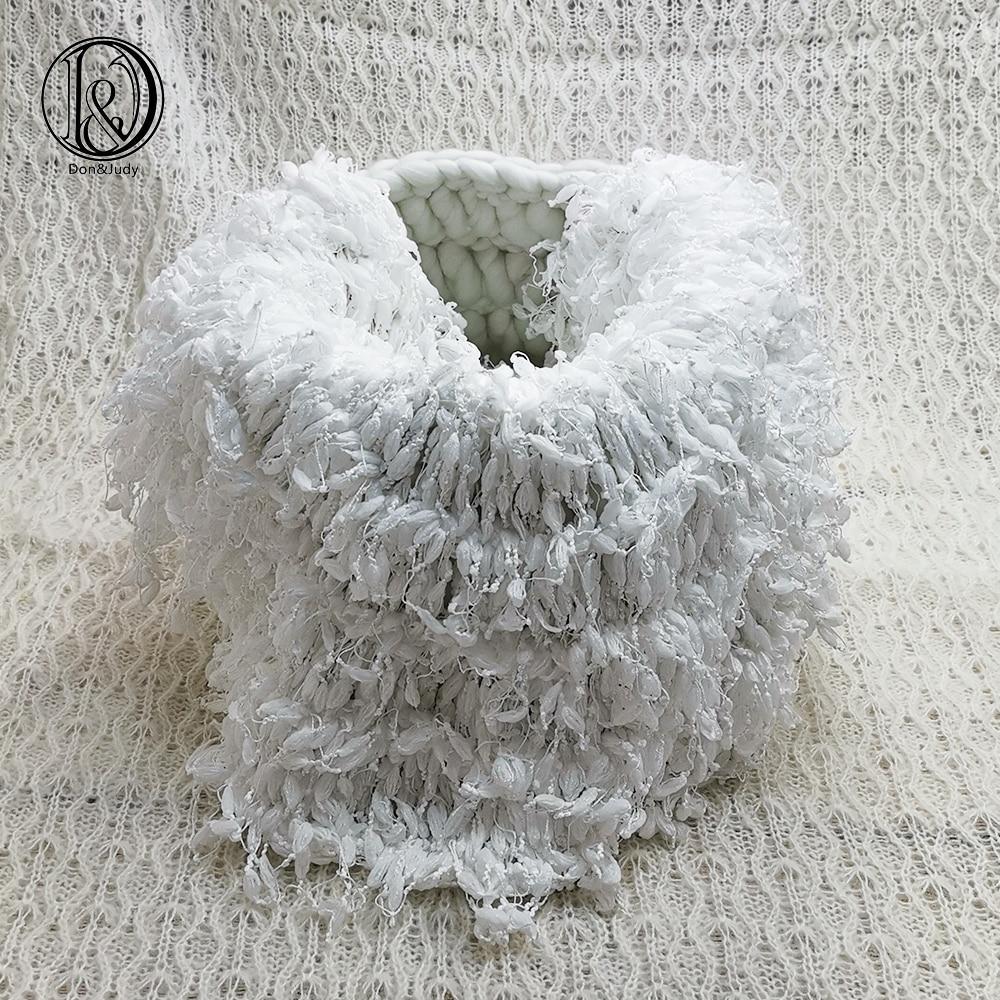 Don&Judy Hand Crochet Round Blanket + Basketry +150x100cm Fabric Backdrop Set Newborn Blanket Background For Photo Shoot Prop