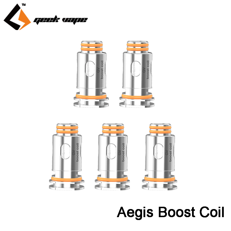 Original Geekvape Aegis Boost Replacement Coil Head 0.4ohm And 0.6ohm For Aegis Boost Pod Mod Kit Cartridge MTL & DL Vape Coil