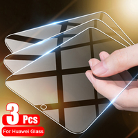 Protector de cristal para pantalla de móvil, cristal Protector para Huawei P30 Lite P50 Pro, P20 P40 Lite Pro P10 P8 P9 Lite 2017, 3 uds.