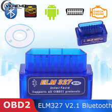 ELM327 V2.1 Bluetooth OBD2 Scanner Diagnostic Tools Car ELM327 DC12V OBD 2 Elm 327 Car Diagnostic Tool ODB2 Auto Scan Adapter(China)